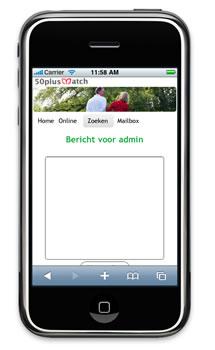 Mobiele site 50plusmatch.nl